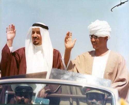 eski sudan cumhurbaşkanı cafer en nemiri ve suudi kral halid bin abdulaziz