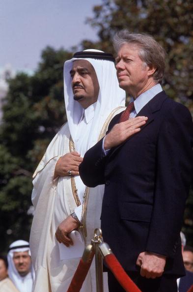 suudi kral fahd ve abd başkanı jamie carter