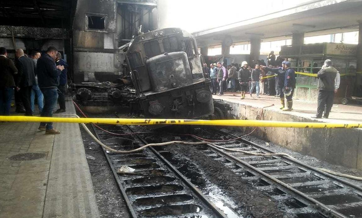Mısır tren istasyonu patlama