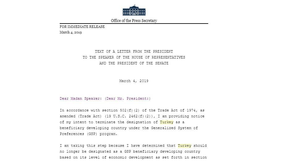 Trump mektup