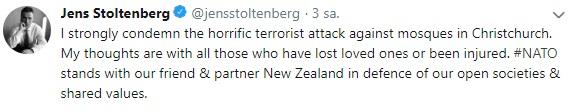 stoltenberg yeni zelanda cami saldırı tweet.jpg