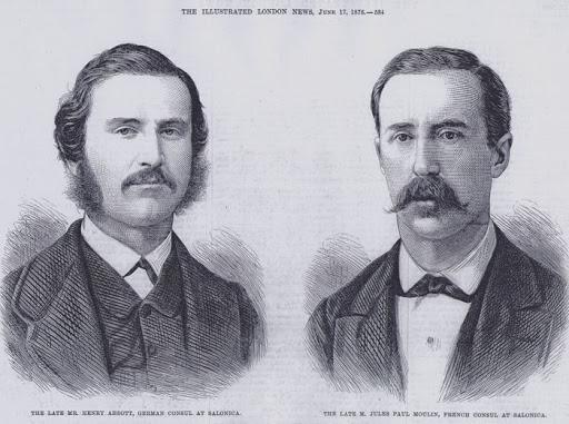 Öldürülen konsoloslar Jules Moulin ve Eric Abbott.jpg