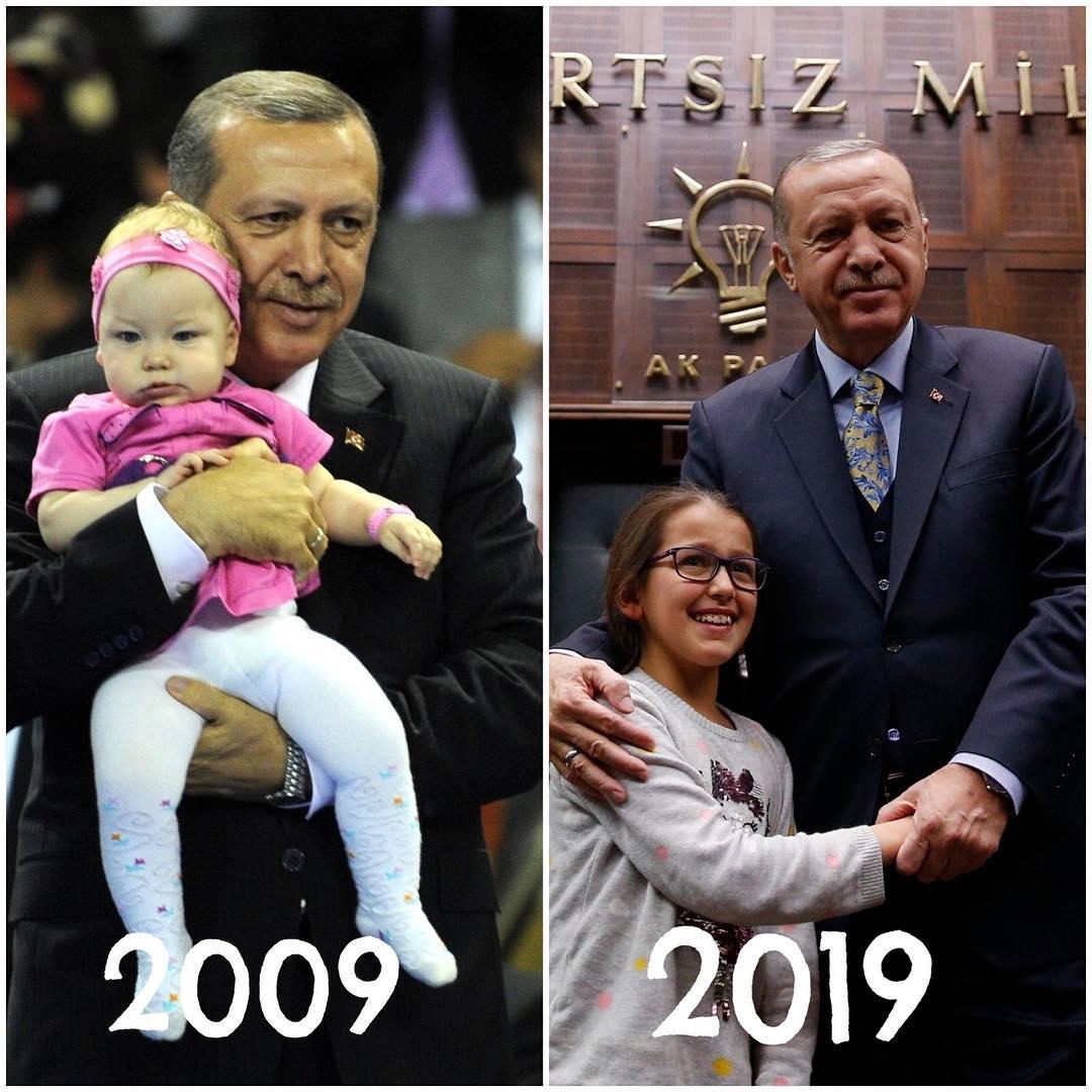 Erdoğan 10 year challenge